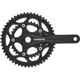 Shimano FC-R345 Crankset 50/34 2x9-speed, black